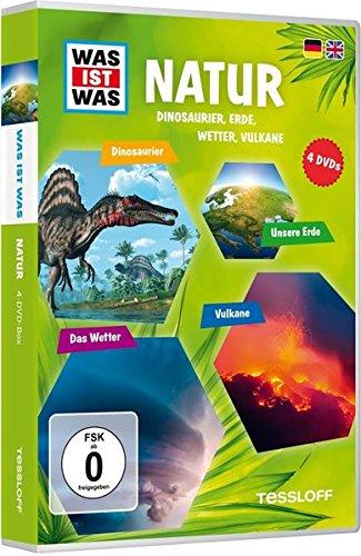 Was ist was: Natur - Dinos, Erde, Wetter, Vulkane [4 DVDs] - Leben, Pflanzen Luft,