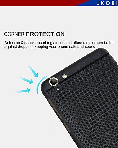Jkobi DOTBLKLNVK5PLUS Classic Dotted Designed Soft Rubberised Back Case Cover For Lenovo Vibe K5 Plus,(Black)