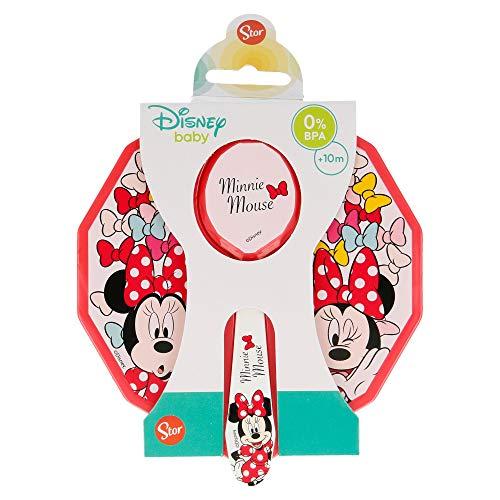 Disney- Cuenco Toddler con Tapa y Cuchara, (STOR ST-45376)
