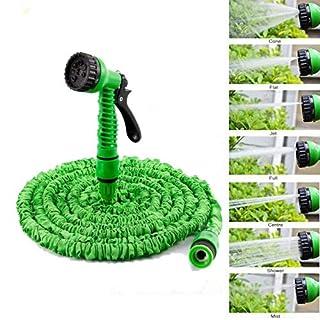 AutoFu Wasserschläuche mit Sprühpistole für Gartenwäsche, flexibel, leicht, einfache Lagerung und Transport, 150 m, Grün