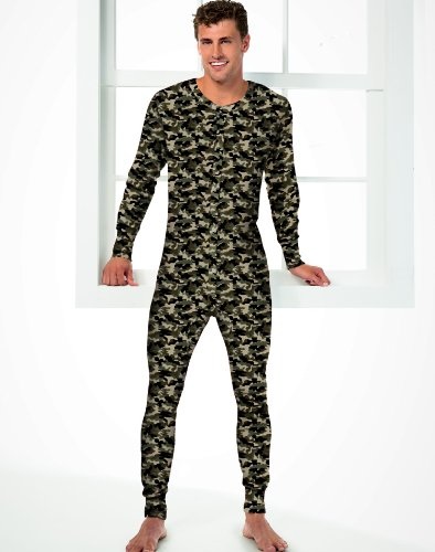 Herren Camo Thermal Union Anzug, 2X-Camo (Thermal Union Anzug)