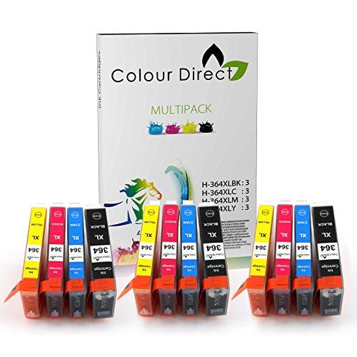 Colour Direct Combo Pack Compatibile 364XL Cartucce d'inchiostro - 3 Nero (550 pagine) 3 Ciano 3 Magenta 3 Giallo *PRONTO Sostituzione Per L'USO*