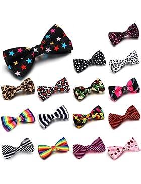 JewelryWe 16 piezas Set para hombre de la mosca de lazo corbata quelantes pajaritay traje camisa Bow Tie varios...