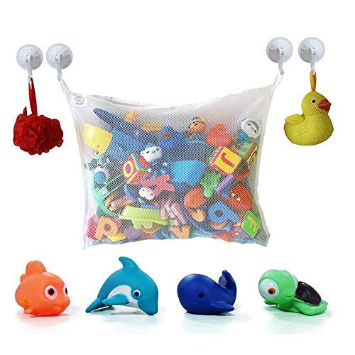 Krabbeldecke Kinder Badewanne Spielzeug Aufbewahrungstasche Spielzeug Mesh Netz Bad Ordentlich Organizer, Spielzeug Mesh Beutel 45 * 35cm