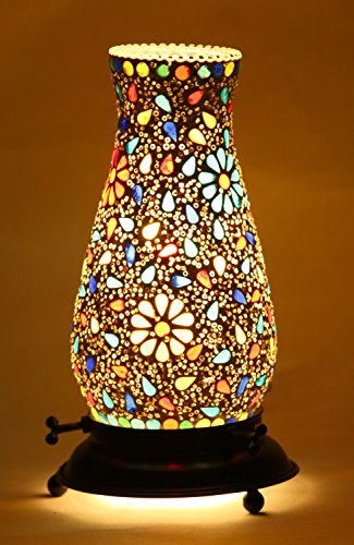 Mejilla Decorative Tumbler Shaped Mosaic Table Lamp,(Size-13 X 13 X 22 cm)...