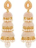 Royal Bling Gold Plated Jhumki Earrings ...