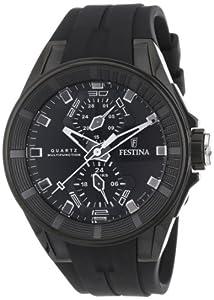 Reloj Festina F16612/4 de cuarzo para hombre con correa de caucho, color negro de Festina