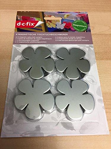 Lot de 4 poids de nappe de fleurs métallique magnétique