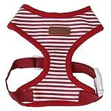 AAGOOD Comfort Vest Cool Dog Kleidung Verstellbare Frontklammer Weste für Hunde Haustier-Welpen Comfort Padded Vest weiche Hundegeschirr - rot + weiß Welpen Kleidung und Accessoires