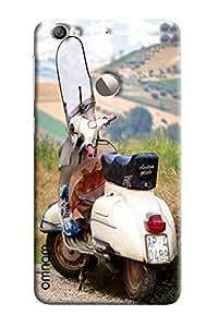 Omnam White Vintage Scooter Printed Designer Back Cover Case For LeTv Le 1s