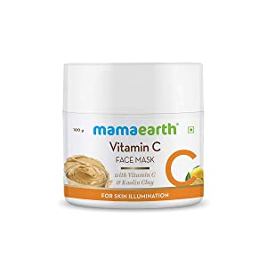 Mamaearth Vitamin C Face Mask With Vitamin C & Kaolin Clay for Skin Illumination - 100 g
