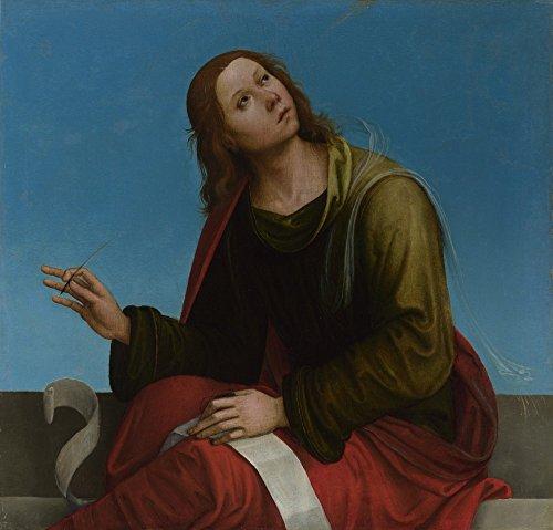 Das Museum Outlet-Lorenzo Costa-Saint John the Evangelist, gespannte Leinwand Galerie verpackt. 96,5x 121,9cm
