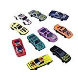 """Lot Of 10 Assorted Die Cast Metal Toy Race Cars - 2.5"""""""