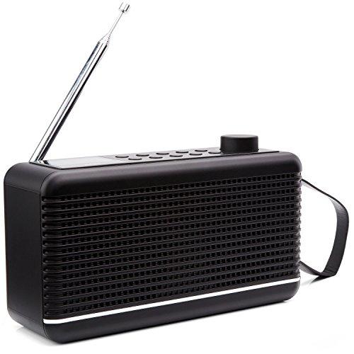 Sky Vision Digitalradio 30S mit Bluetooth - Klein, Lautsprecher, DAB+, Schwarz