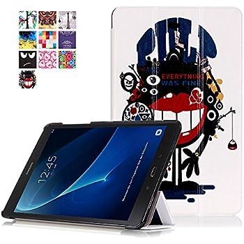 Skytar Coque Samsung TabA 10.1,Etui Tablette Galaxy Tab A6,Housse en PU Cuir Flip Case Cover