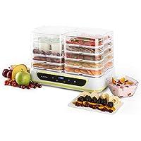 Klarstein Yoyoyofruit 2 en 1 Deshidratador y Yogurtera (550W Potencia, 2x5 bandejas, Temperatura Temporizador Regulable, secador Alimentos Fruta verdura, Color Blanco)