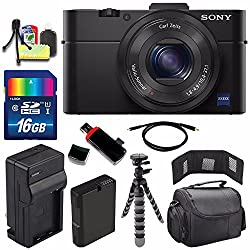 Sony Cyber-shot DSC-RX100M2 Digital Camera + Extra battery + Charger + 16 Bundle 1 - International Version (No Warranty)