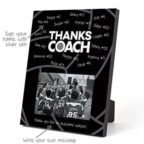 ChalkTalkSPORTS Bilderrahmen Volleyball, personalisierbar, Coach (Autogramm), Non-Personalized schwarz