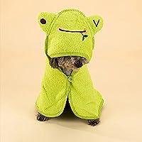 Suave, Absorbente Mascotas de Albornoz con diseño de Dibujos Animados, multifunktioneller Perros Pijama