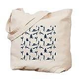 CafePress Yoga-Position–natürliche Canvas Handtasche, mit Tuch, mit Tasche, canvas, khaki, S