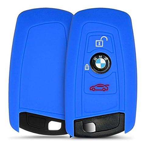 kwmobile Housse en silicone pour BMW 3-Bouton clef de voiture