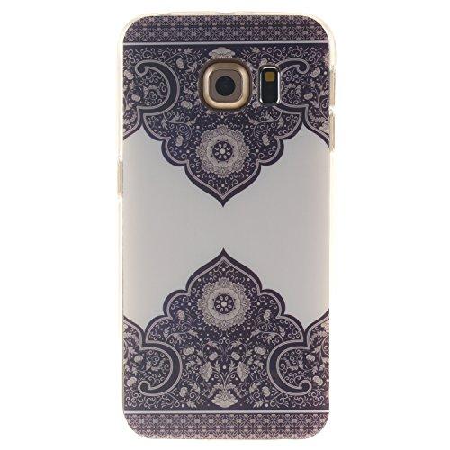 Preisvergleich Produktbild BONROY ® TPU Schutzhülle für Samsung Galaxy S6 edge G925 case Wallet Schale Tasche Silikon Back Cover Etui Skin Shell Handyhülle Intarsien Weich - Elefant Blume