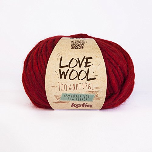 Katia Wolle Liebe #115 rot super chunky 12-15mm Nadeln 85% Wolle 15% alpaca 100 G Knäuel -