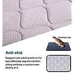 Hero Dog Dog Bed Extra Large Washable Crate Mattress 47 Inch, Soft Non Slip Pet Fleece Cushion Pad Blue XL 14