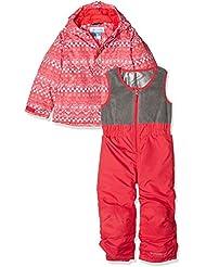 Columbia Buga Set - Conjunto chaqueta y pantalón para niña, color rojo, talla 4