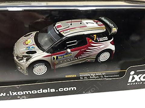 Voiture Rallye Citroen 1 43 - CITROEN DS3 WRC #7 SWEDEN 2012 1:43