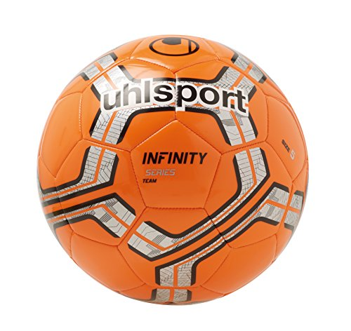uhlsport Infinity Team Ball Fußball, Fluo rot/Silber/Schwarz, 5 (Rot Schwarz Fußball Ball)