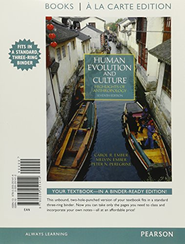 Human Evolution and Culture, Books a la Carte Plus New Myanthrolab with Etext -- Access Card Package
