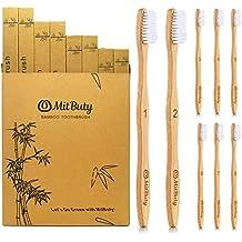 MitButy Cepillo de Dientes de Bambú  8 Uds  Cepillo de Dientes De Madera de 4fe66c240e26