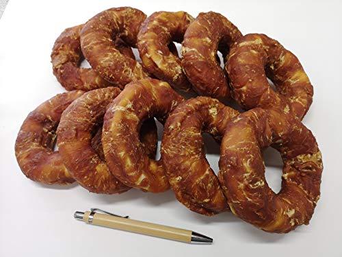 10 x BIG Donut Kauknochen mit Huhn , pro St.ca. 150 gr. 11 x 4 cm