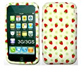 Goldstar� Butterfly, Leopard Pink Flower Silicone Gel Case Cover For Iphone 3, 3gs (Strawberry)