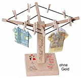 Geld-Wäschespinne mit Druck - Das große Glück in der Liebe... Just Married - Sp01