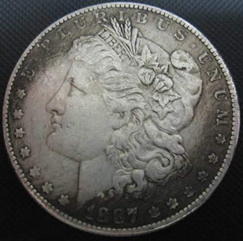 YWJHY Kupferkern 1887 US-Dollar-Silbermünze von Morgan,Silber,Einheitsgröße
