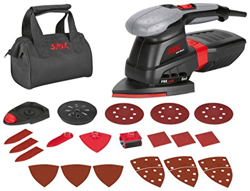 Skil 7226AC Levigatrice Multifunzione, Fox 6-In-1, Nero/Antracite