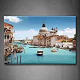 Ci sono molti navi nel Porto di Venezia Wall Art pittura l' immagine stampa su tela City PICTURES for home decor Decoration Gift