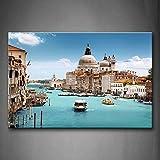 Ci sono molti navi nel Porto di Venezia Wall Art pittura l' immagine stampa su tela City PICTURES for home decor Decoration Gift