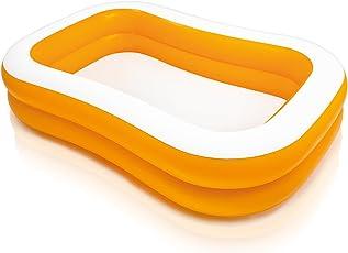 INTEX Mandarin Swim Center Family Pool (90 x 58 x 18, Orange/White)