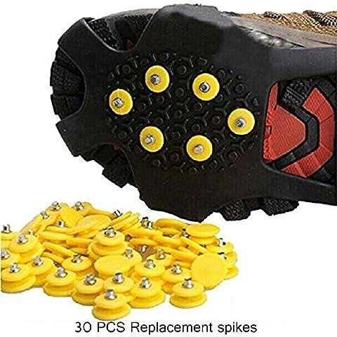 30Pcs Universal Traction de Glace Anti-dérapant Remplacement Pointes de Rechange Neige S'adapter à n'importe quelle Taille de Chaussures pour Randonnée de Haute Altitude Ski