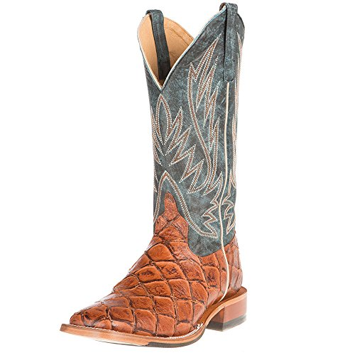 "Horse Power Western Boots Tough Mens Leather Cowboy 13"" Honey HP1063"
