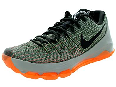 Nike Men's KD 8 Basketball Shoes, Grey/Black/Orange (Lnr Grey/