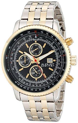 August Steiner AS8162TTG - Reloj de cuarzo analógico en dos tonos para hombre