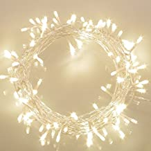 100 LED Catene Luminose Esterno a Batteria (8 Modalità, Luminosità Regolabile, IP65, Bianco Caldo)