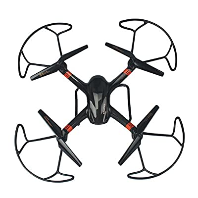 Outside RC drone with extra battery 2MP HD camera one key return home 3D flips remote control helicopter rc airplane toy 2.4G 6-axis quadcopter kit large size 50*50*20cm super-x LAMASTON