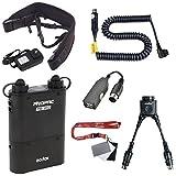 Fomito Godox PB960 Batería portátil doble salida para flash Canon 600EX, 580EX II, 580EX, 550EX, 540EZ, 430EZ, para Yongnuo Flashes, para AD600 AD360 II AD180, para teléfonos móviles, negro