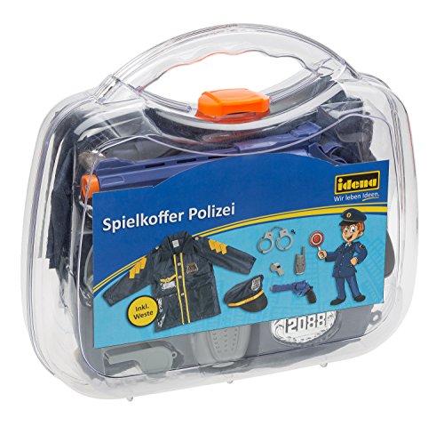 Idena 30122 - Spielkoffer Polizei mit Jacke und Mütze und Zubehör, ca. 30 x 27 x 8 cm (Duo-kostüm-ideen Mädchen Für)