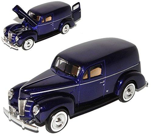 Ford Sedan Delivery Lieferwagen 1940 Violett Oldtimer 1/24 Motormax Modellauto Modell Auto